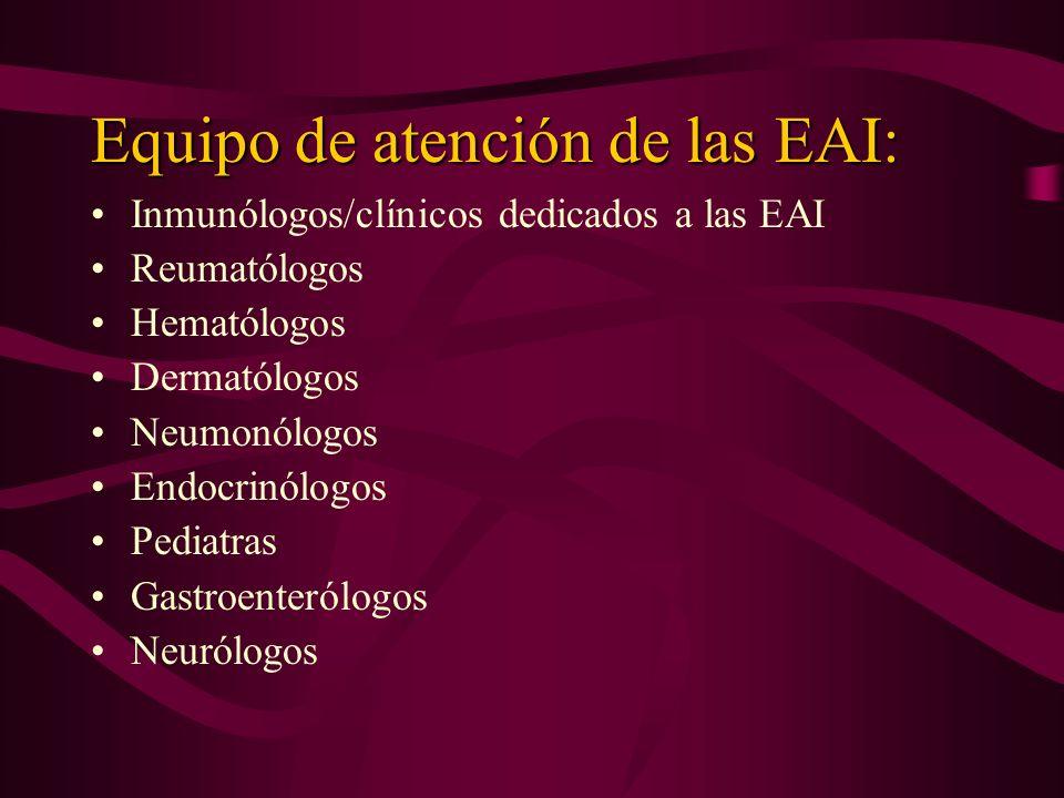 Equipo de atención de las EAI: