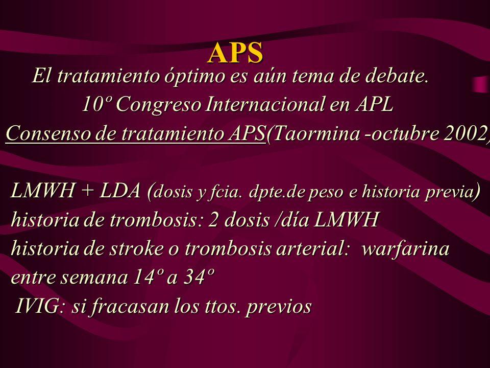 APS El tratamiento óptimo es aún tema de debate.