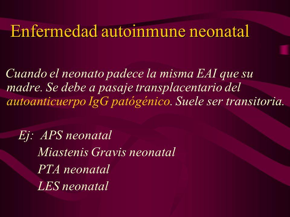 Enfermedad autoinmune neonatal