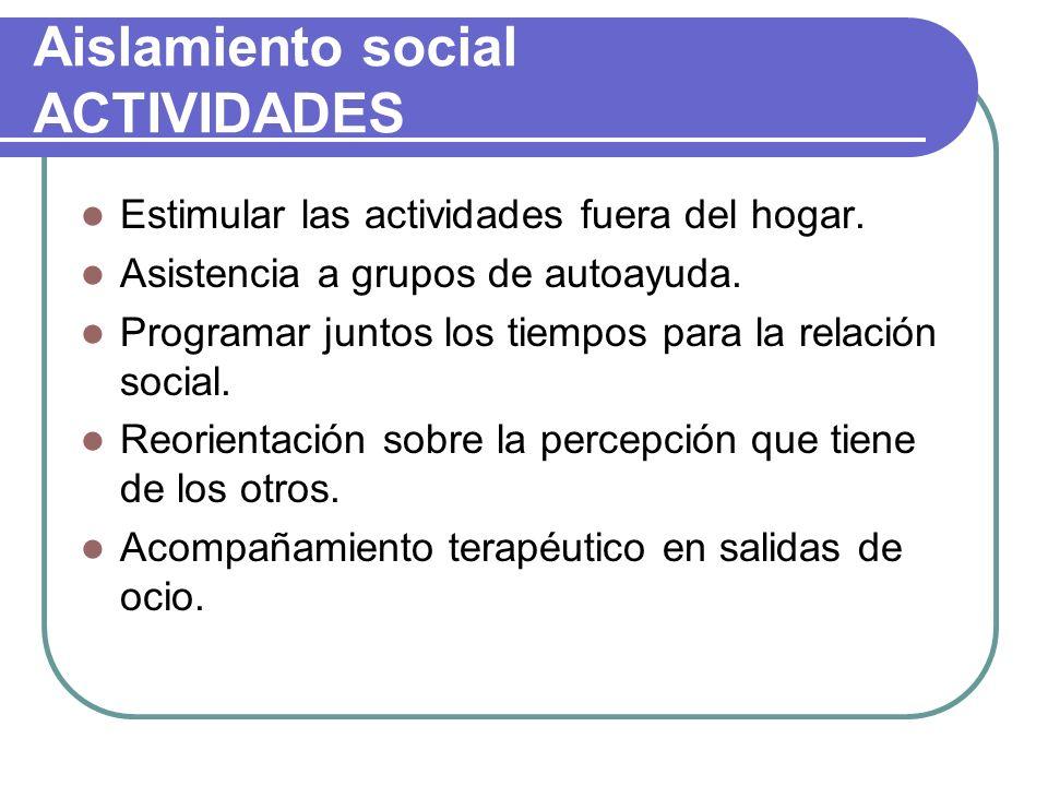 Aislamiento social ACTIVIDADES