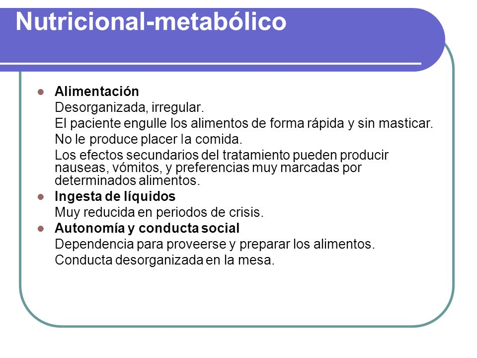Nutricional-metabólico