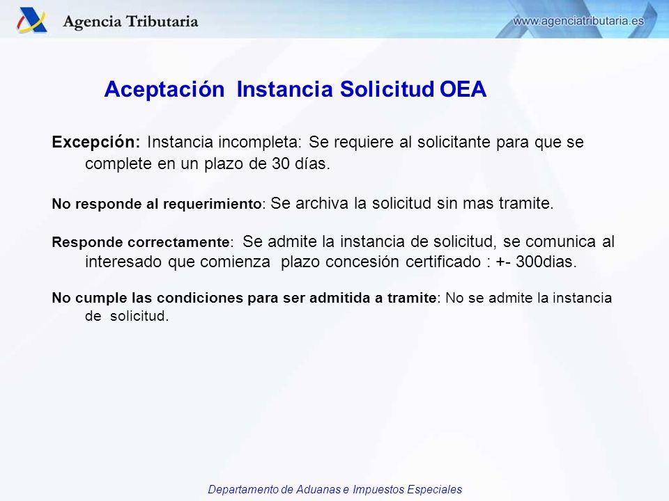 Aceptación Instancia Solicitud OEA