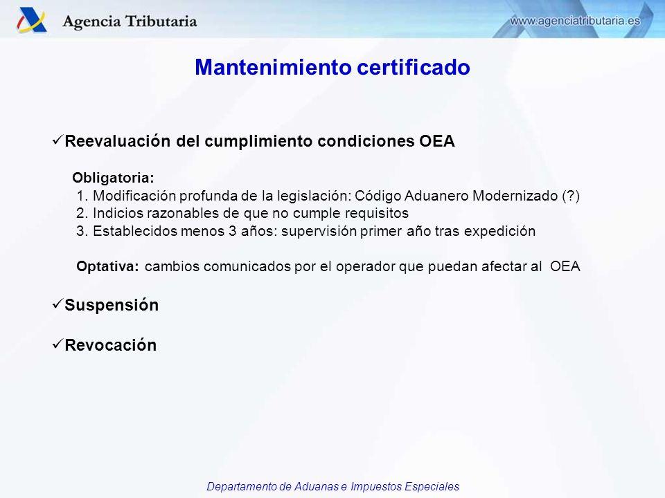 Mantenimiento certificado