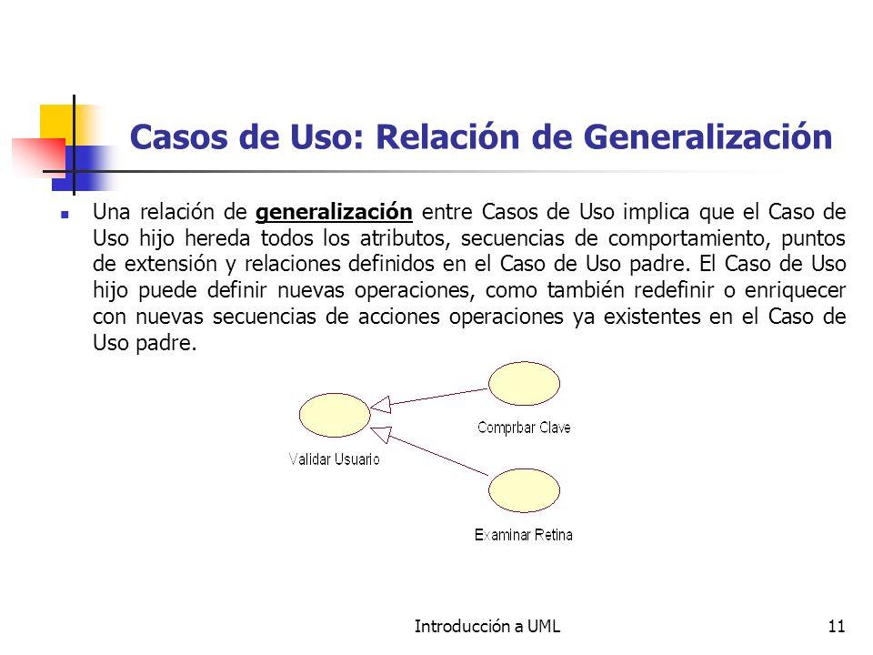 Casos de Uso: Relación de Generalización