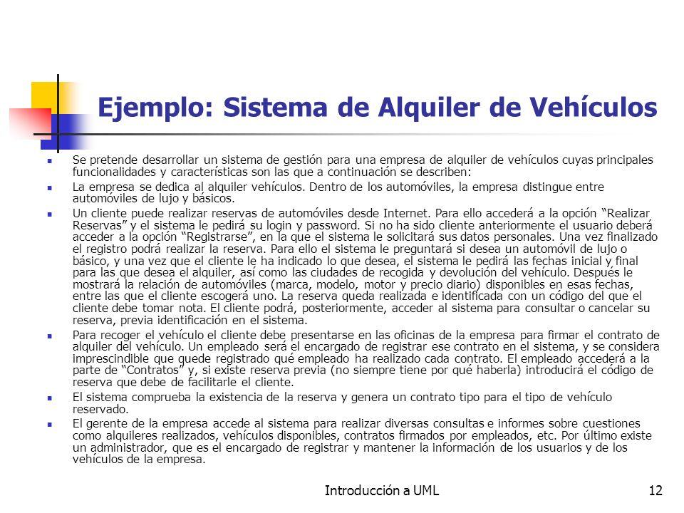 Ejemplo: Sistema de Alquiler de Vehículos