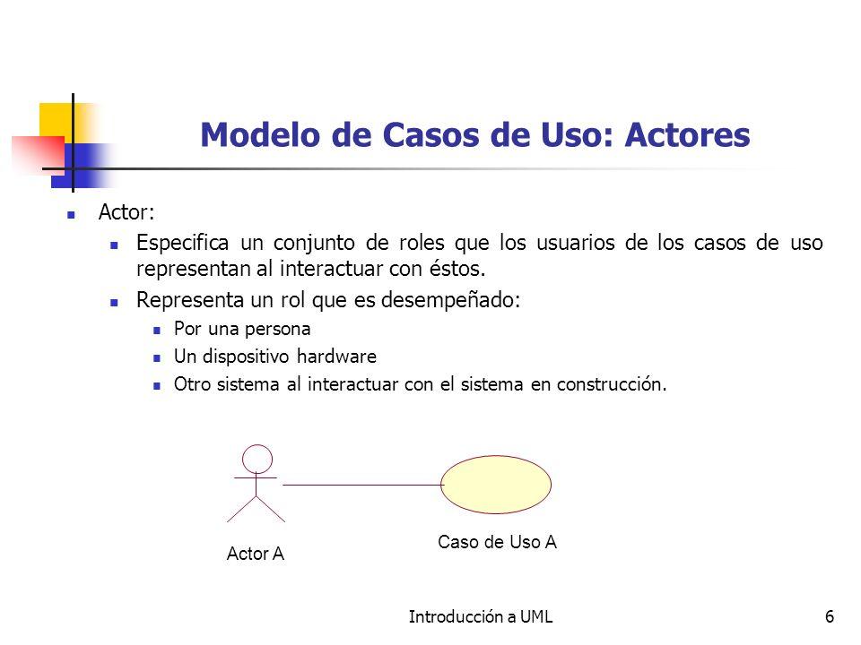 Modelo de Casos de Uso: Actores