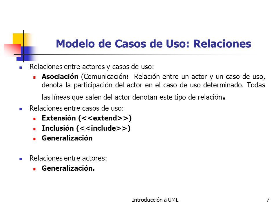 Modelo de Casos de Uso: Relaciones