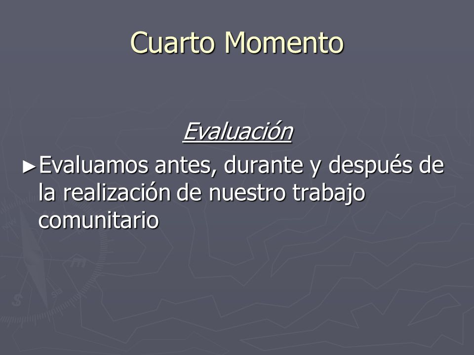 Cuarto Momento Evaluación