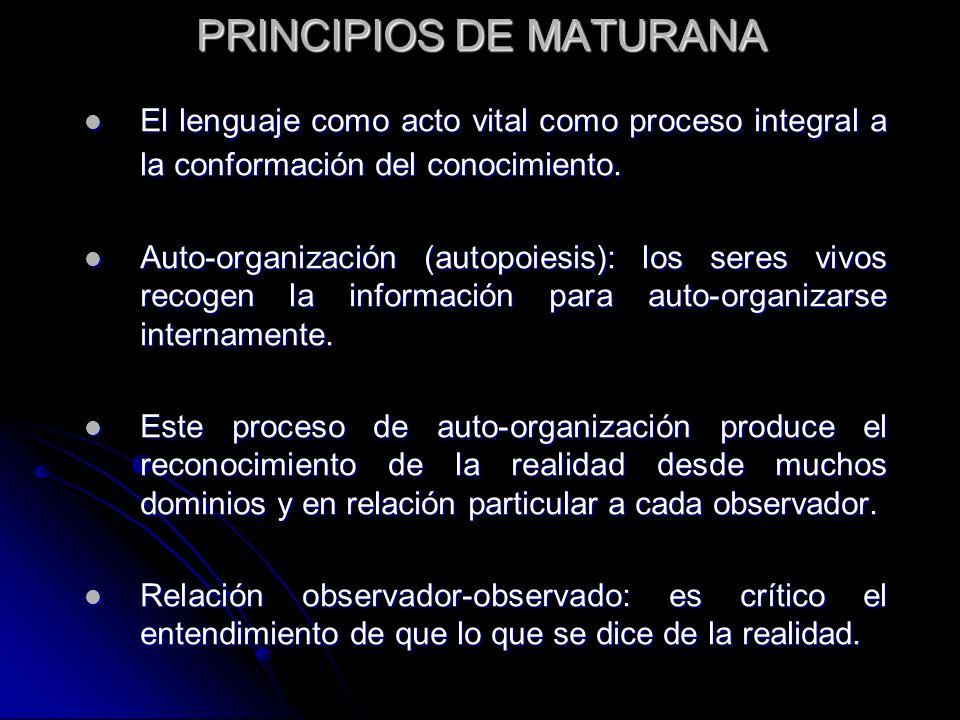 PRINCIPIOS DE MATURANA