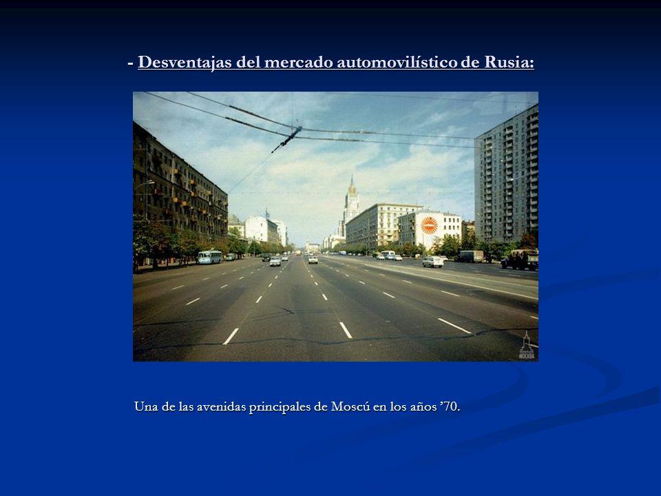 - Desventajas del mercado automovilístico de Rusia: