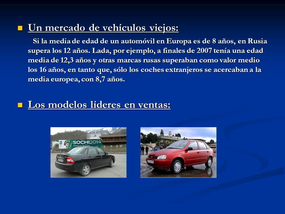 Un mercado de vehículos viejos: