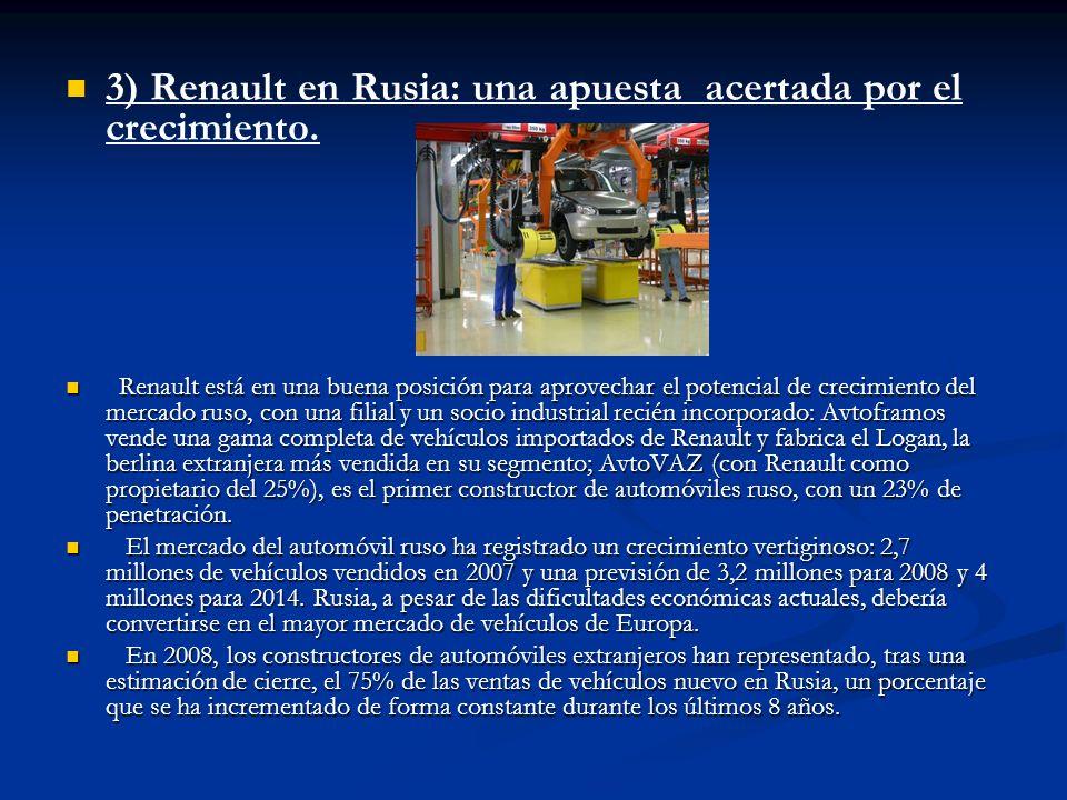 3) Renault en Rusia: una apuesta acertada por el crecimiento.