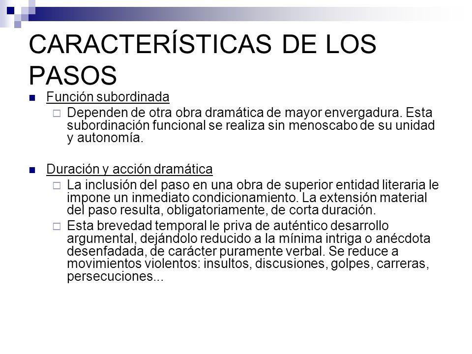 CARACTERÍSTICAS DE LOS PASOS