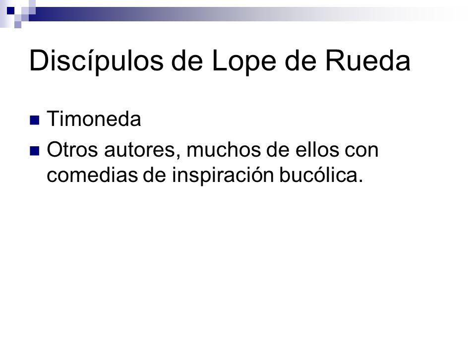 Discípulos de Lope de Rueda
