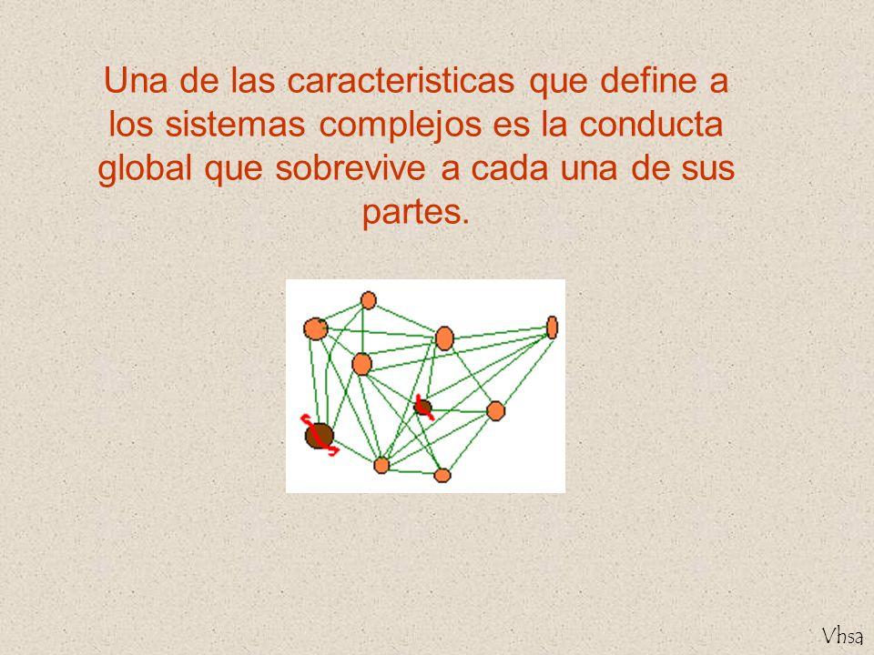 Una de las caracteristicas que define a los sistemas complejos es la conducta global que sobrevive a cada una de sus partes.