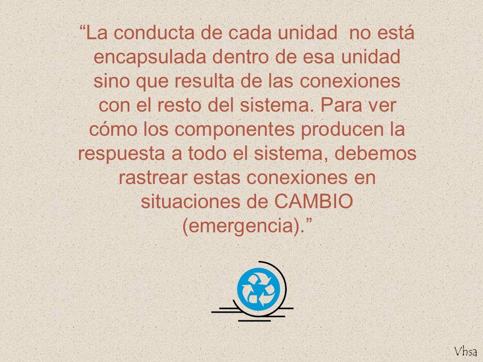 La conducta de cada unidad no está encapsulada dentro de esa unidad sino que resulta de las conexiones con el resto del sistema.