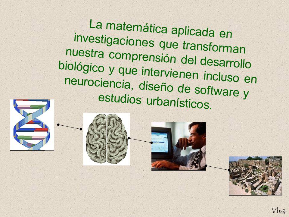 La matemática aplicada en investigaciones que transforman nuestra comprensión del desarrollo biológico y que intervienen incluso en neurociencia, diseño de software y estudios urbanísticos.