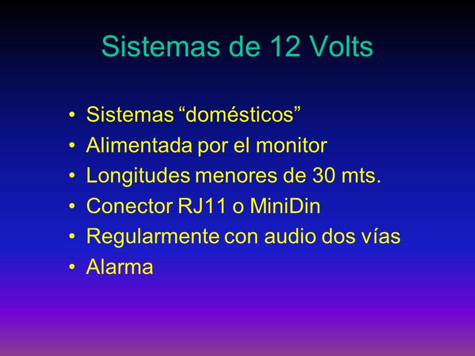 Sistemas de 12 Volts Sistemas domésticos Alimentada por el monitor
