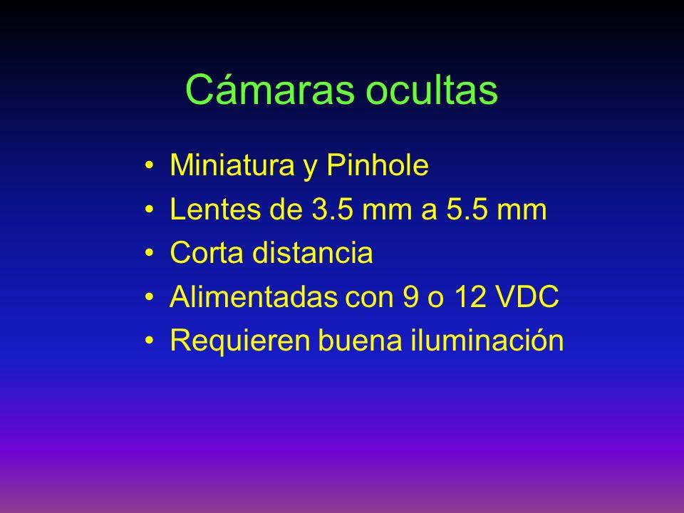 Cámaras ocultas Miniatura y Pinhole Lentes de 3.5 mm a 5.5 mm