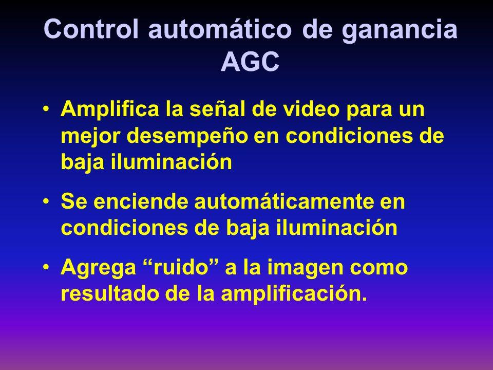 Control automático de ganancia AGC