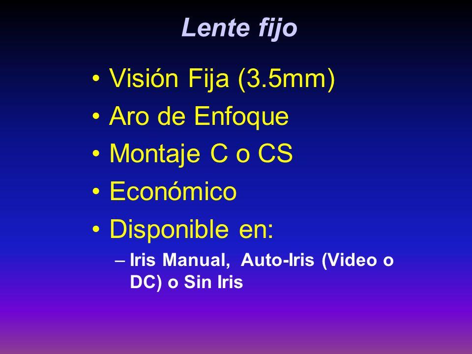 Lente fijo Visión Fija (3.5mm) Aro de Enfoque Montaje C o CS Económico