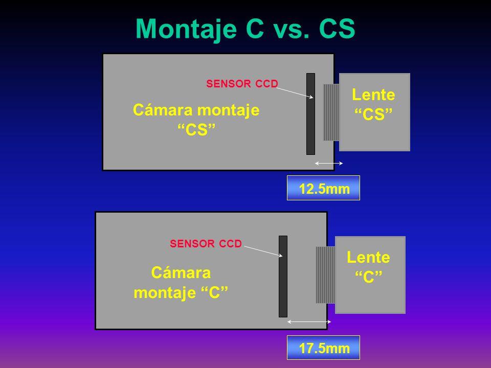 Montaje C vs. CS Lente CS Cámara montaje CS Lente C