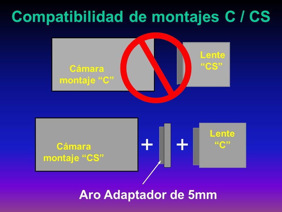 Compatibilidad de montajes C / CS