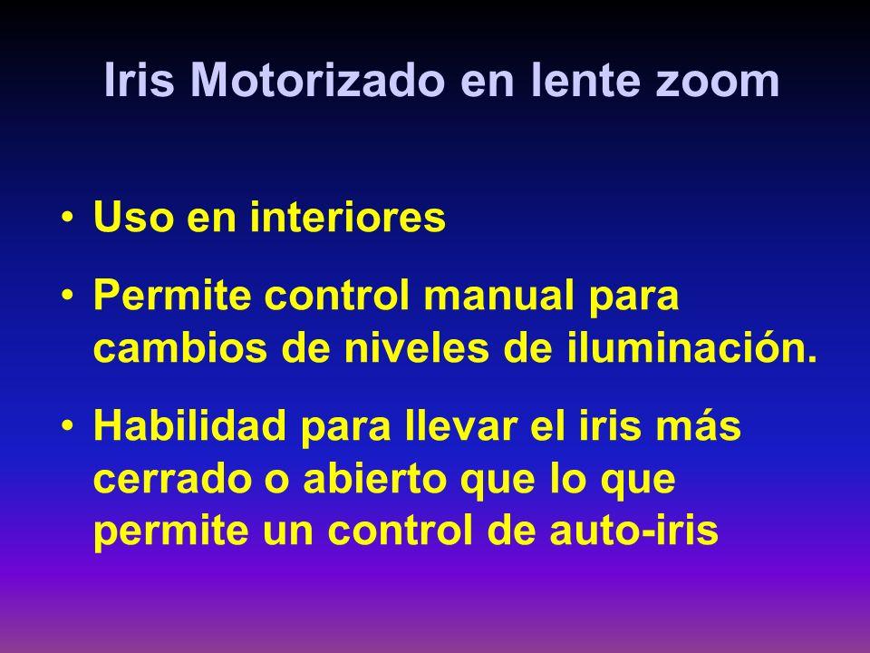 Iris Motorizado en lente zoom