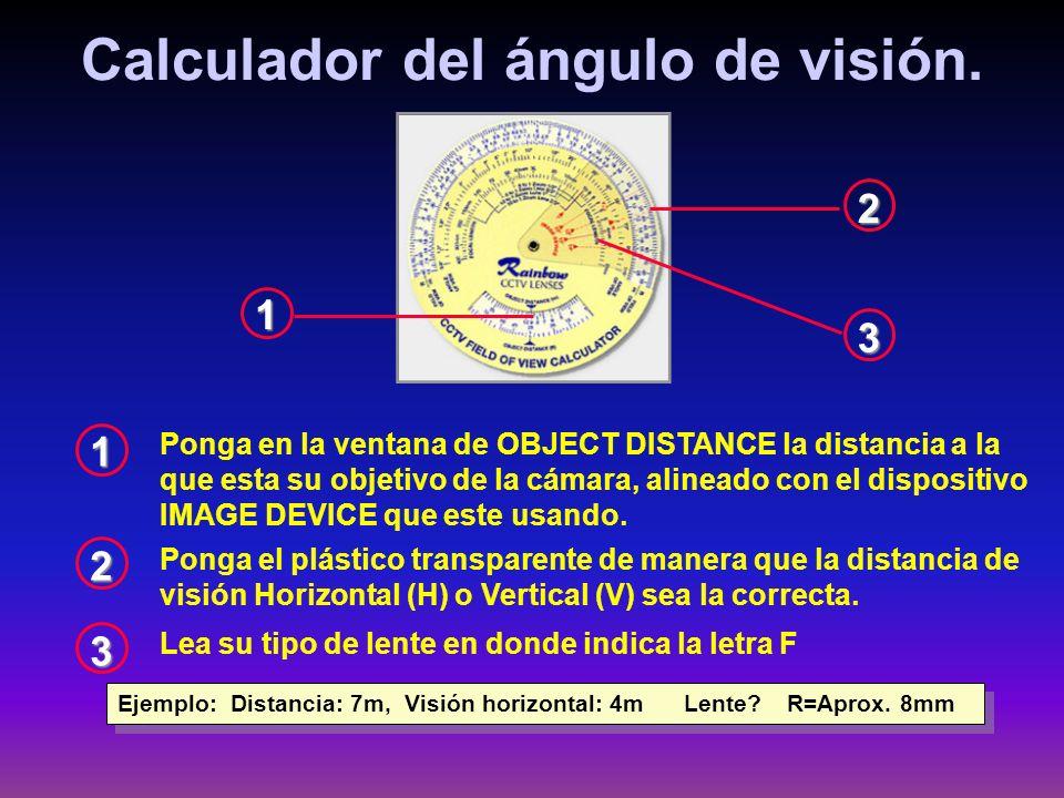 Calculador del ángulo de visión.