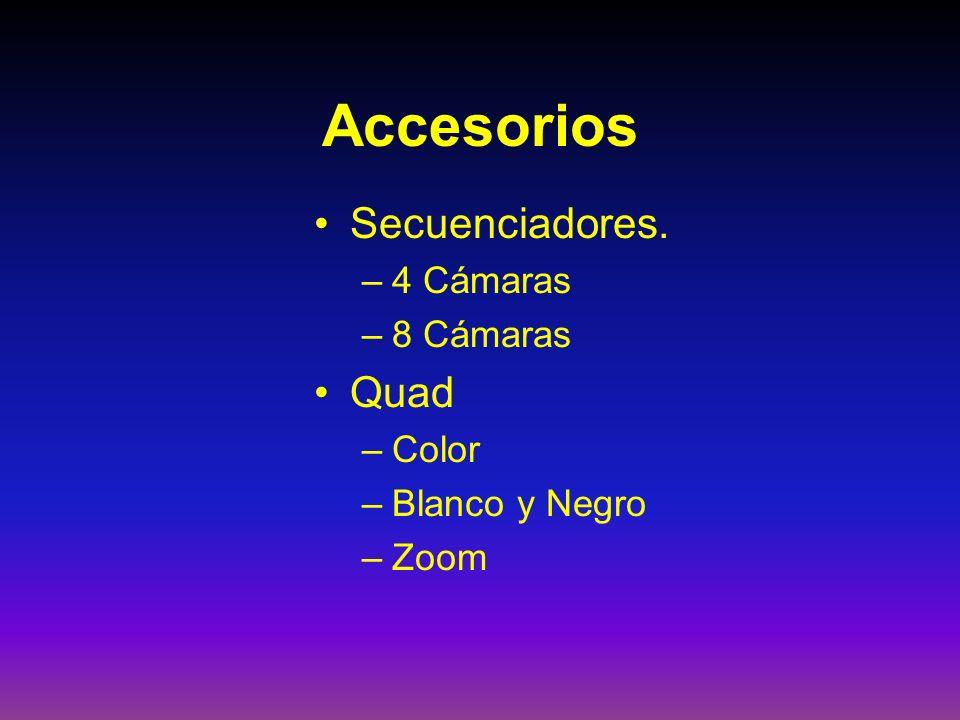 Accesorios Secuenciadores. Quad 4 Cámaras 8 Cámaras Color
