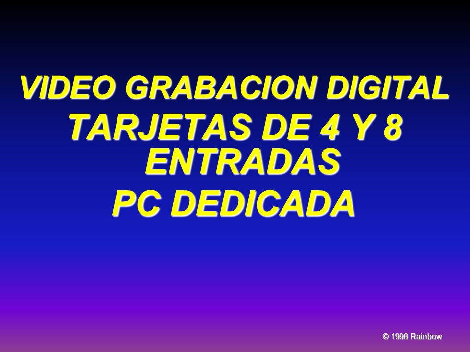 VIDEO GRABACION DIGITAL