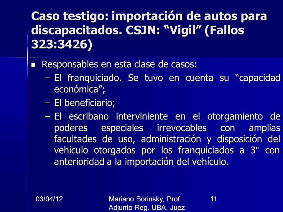 Caso testigo: importación de autos para discapacitados