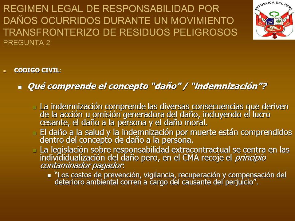 REGIMEN LEGAL DE RESPONSABILIDAD POR DAÑOS OCURRIDOS DURANTE UN MOVIMIENTO TRANSFRONTERIZO DE RESIDUOS PELIGROSOS PREGUNTA 2
