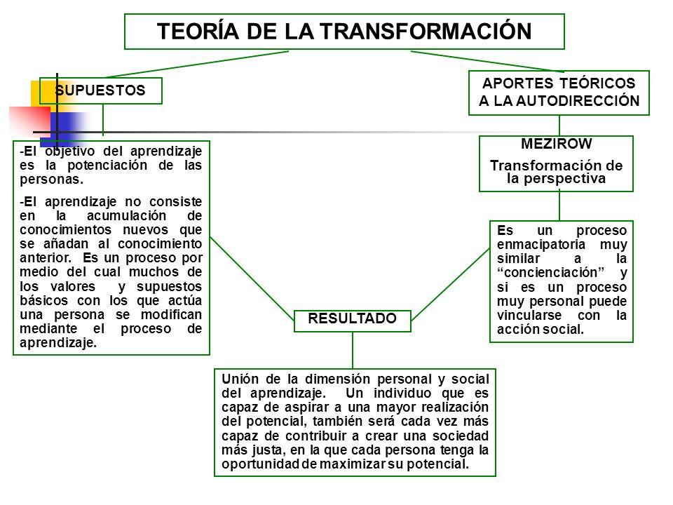 TEORÍA DE LA TRANSFORMACIÓN
