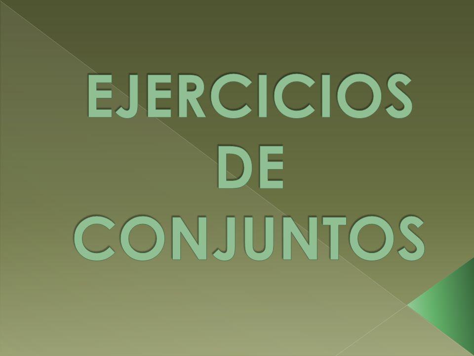EJERCICIOS DE CONJUNTOS