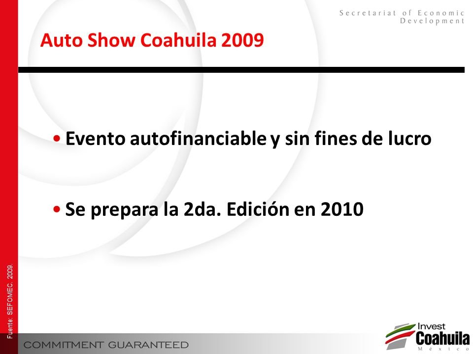 Evento autofinanciable y sin fines de lucro