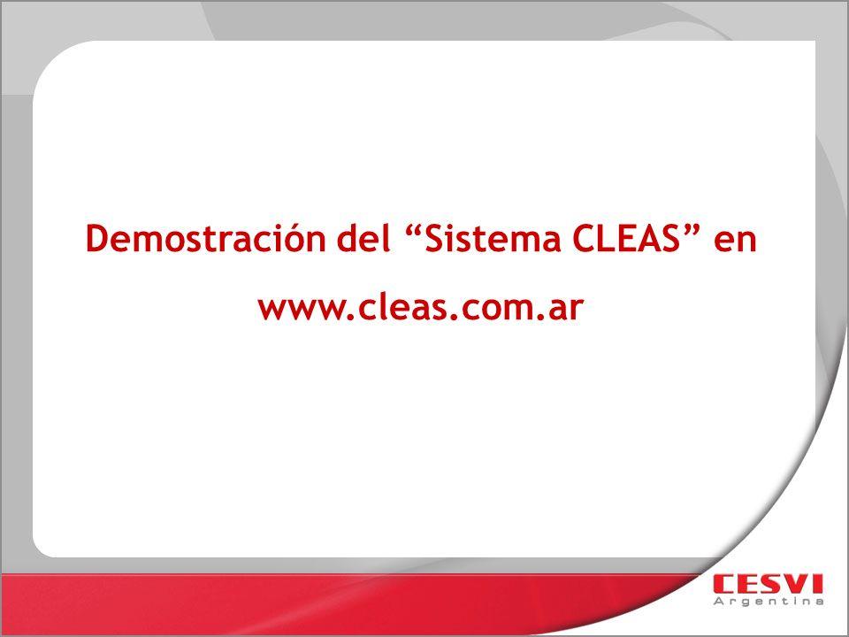 Demostración del Sistema CLEAS en