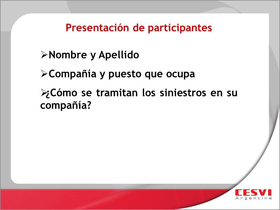Presentación de participantes