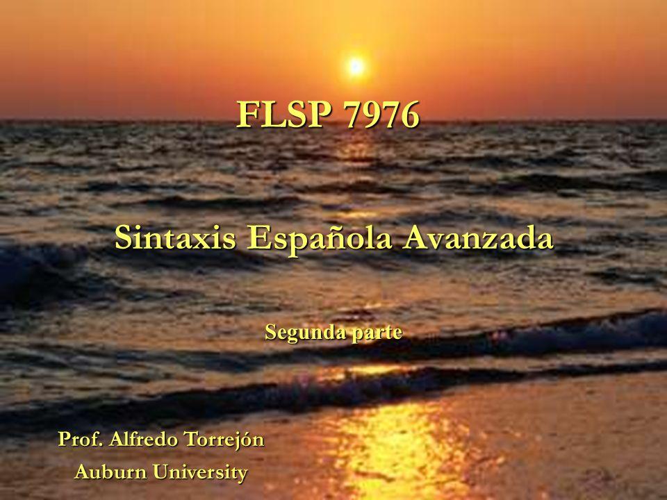 Sintaxis Española Avanzada Segunda parte