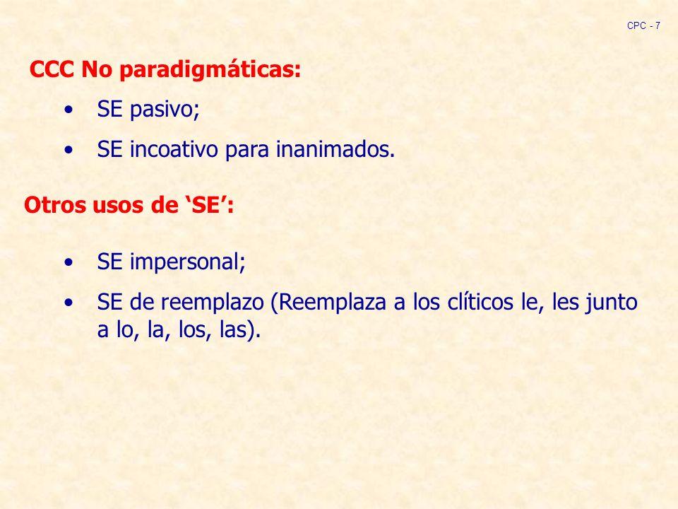 CCC No paradigmáticas: