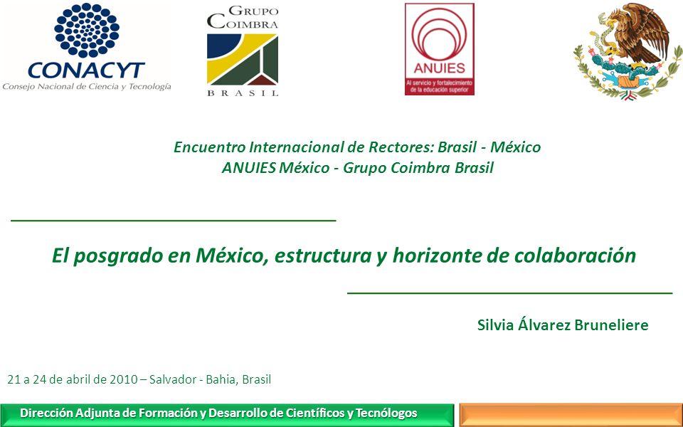 El posgrado en México, estructura y horizonte de colaboración