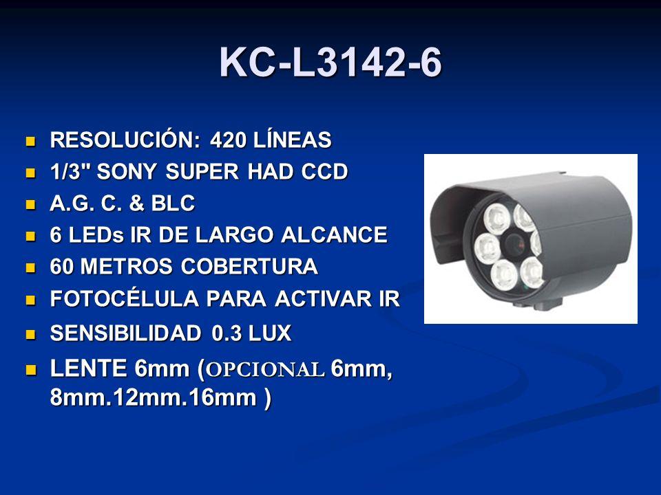 KC-L3142-6 LENTE 6mm (OPCIONAL 6mm, 8mm.12mm.16mm )