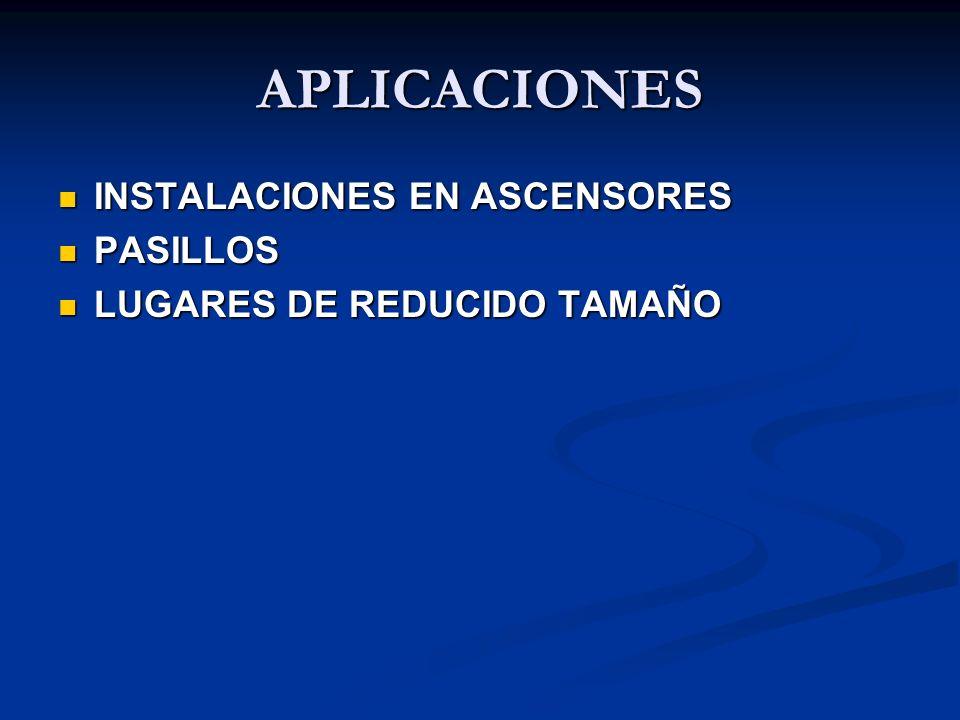 APLICACIONES INSTALACIONES EN ASCENSORES PASILLOS