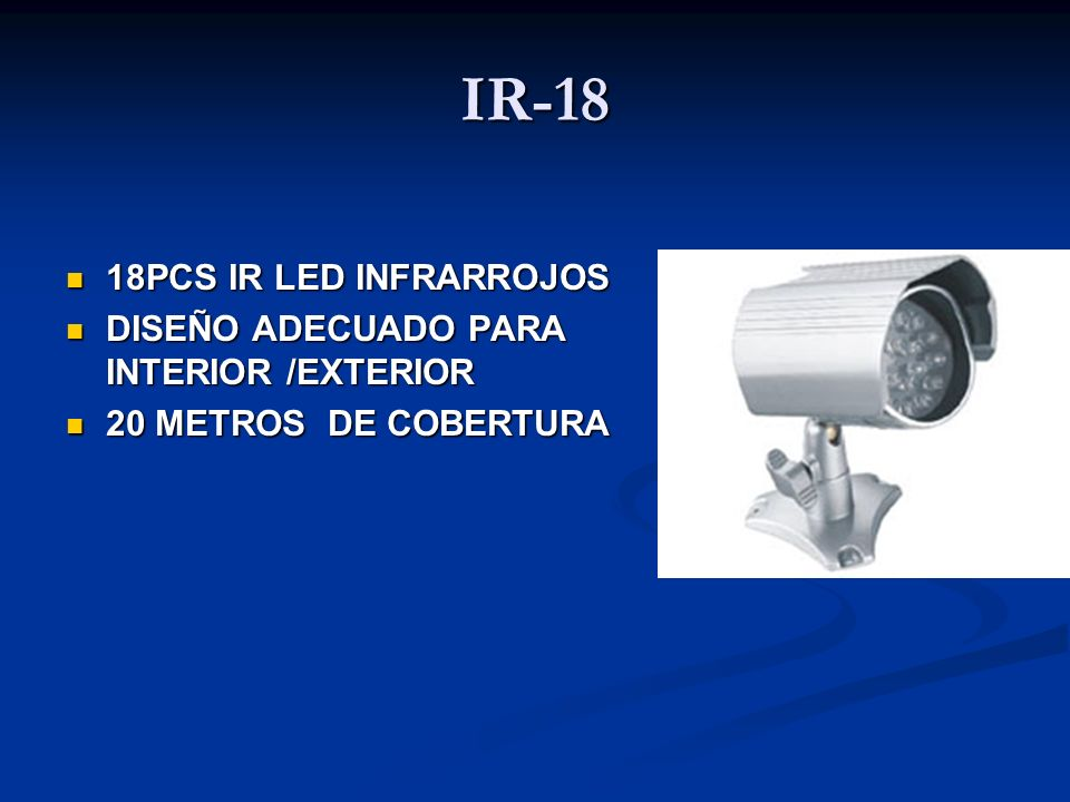 IR-18 18PCS IR LED INFRARROJOS DISEÑO ADECUADO PARA INTERIOR /EXTERIOR