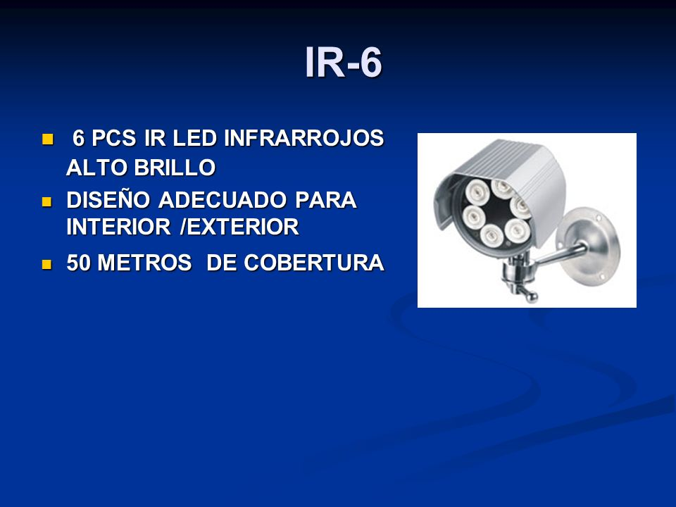 IR-6 6 PCS IR LED INFRARROJOS ALTO BRILLO