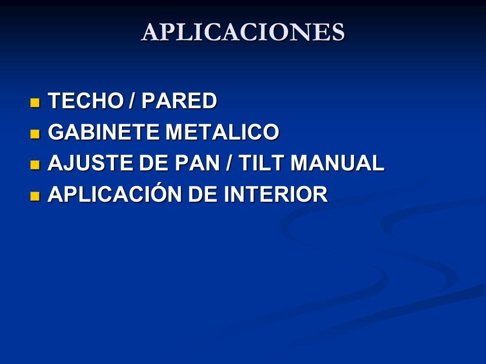 APLICACIONES TECHO / PARED GABINETE METALICO