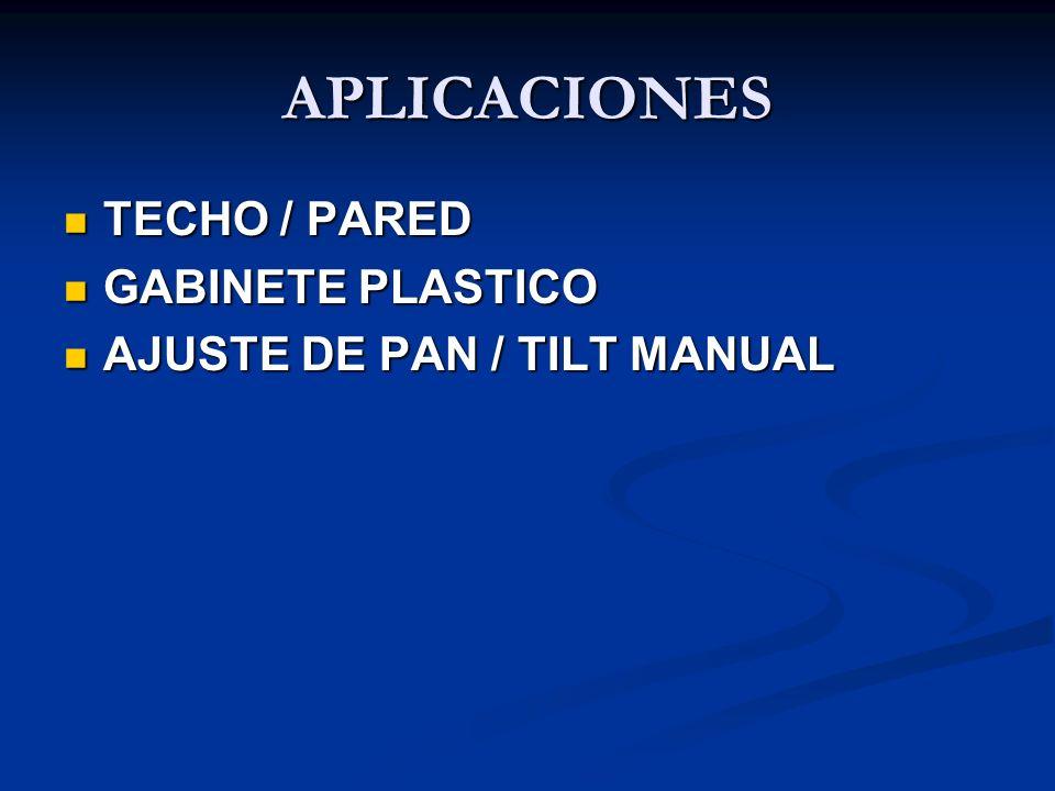APLICACIONES TECHO / PARED GABINETE PLASTICO