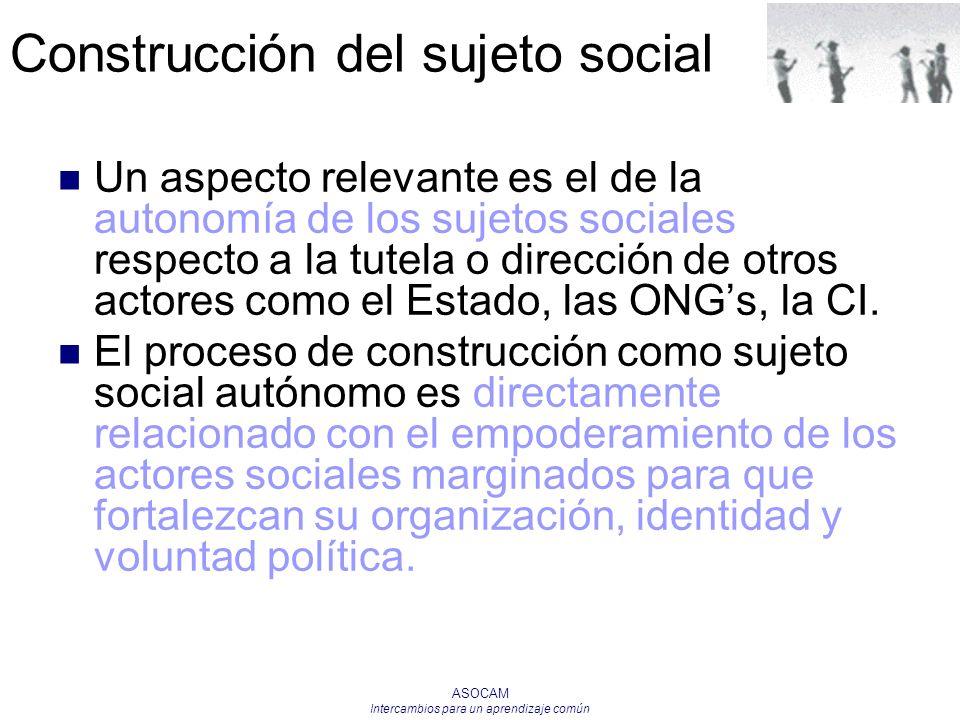 Construcción del sujeto social