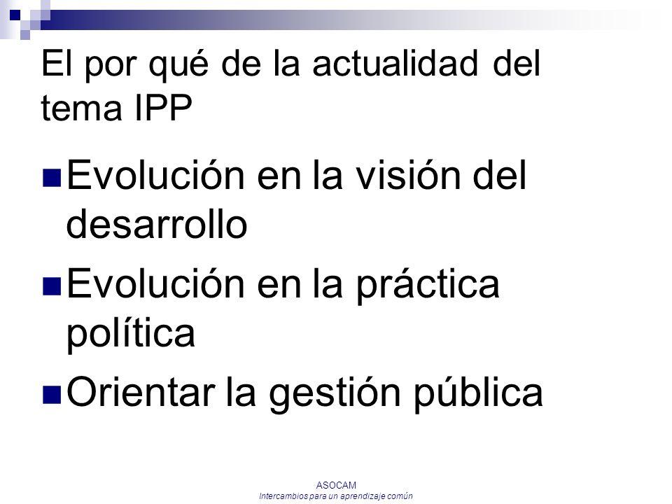 El por qué de la actualidad del tema IPP