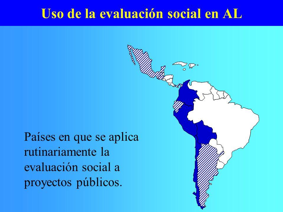 Uso de la evaluación social en AL
